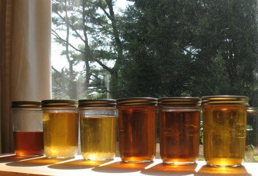 Maple syrup in quart jars